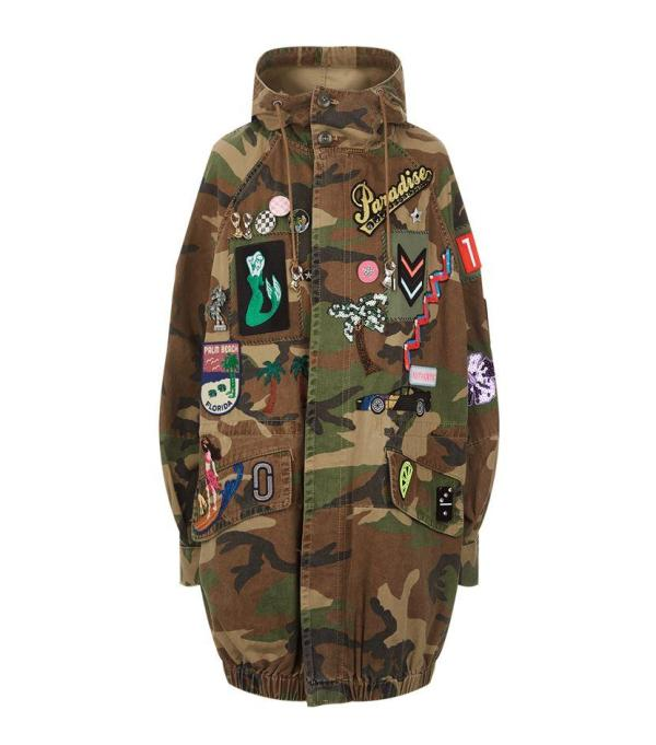 Marc Jacobs Camouflage Hooded Anorak In Green Lyst