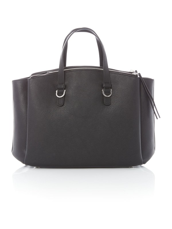Tommy Hilfiger Core Black Satchel Bag In Lyst