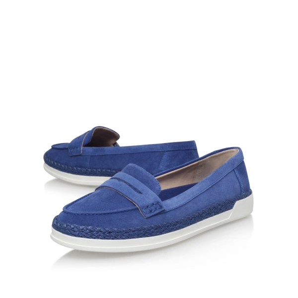 Nine West Verycold Flat Loafers In Blue - Lyst