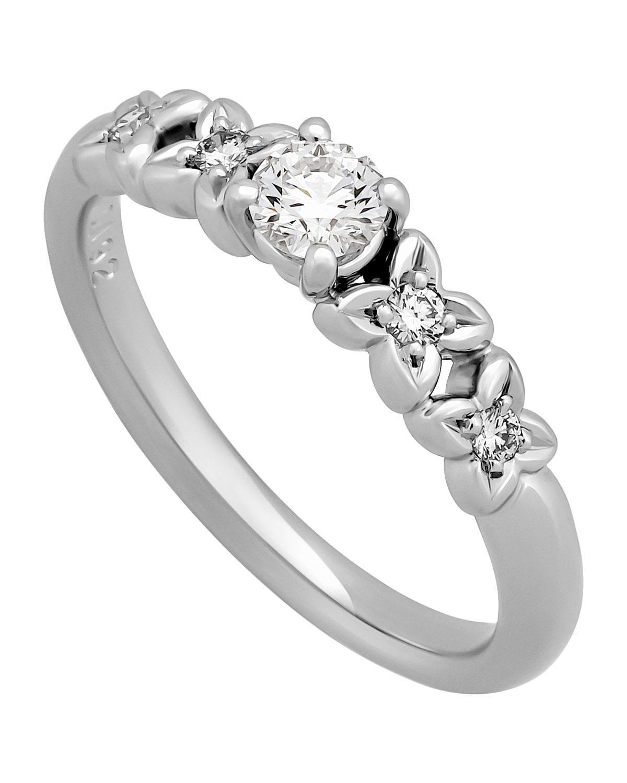 Lyst - Dior Estate Platinum Diamond Ring in Metallic