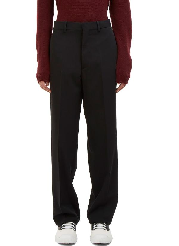 Marni Men' Wide Leg Suiting Pants In Black