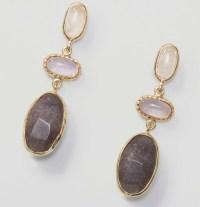 Loft Stone Drop Earrings in Metallic | Lyst