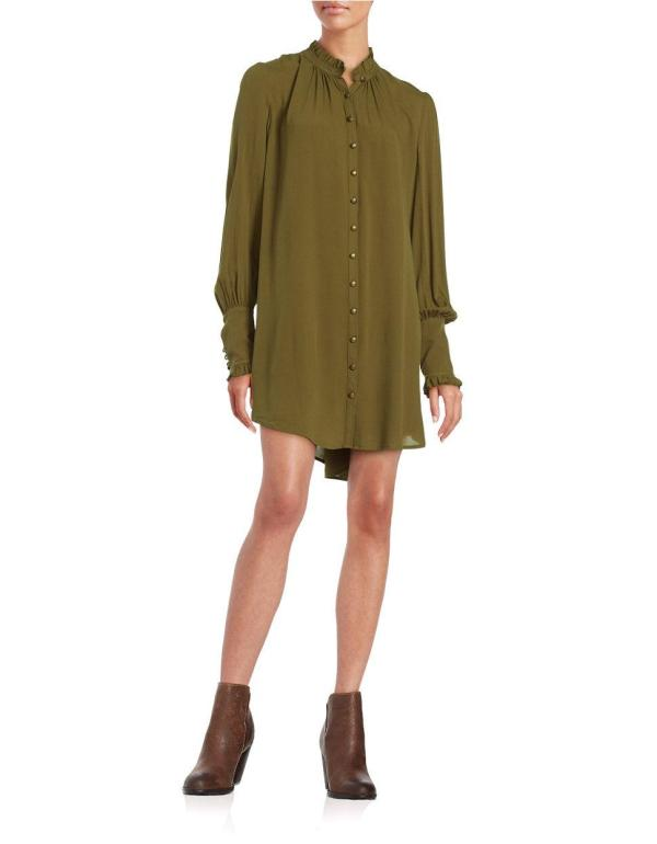 Free People Oversized Tunic Blouse In Green Lyst