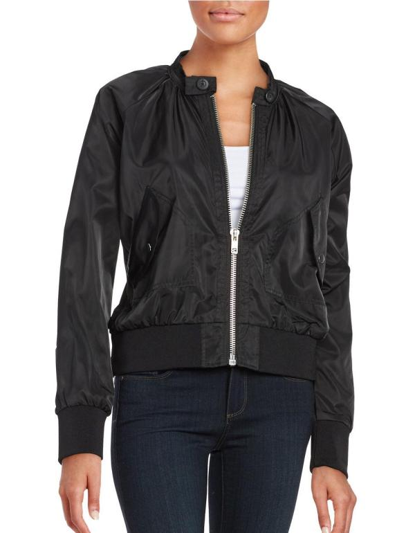 Free People Lightweight Bomber Jacket In Black Lyst