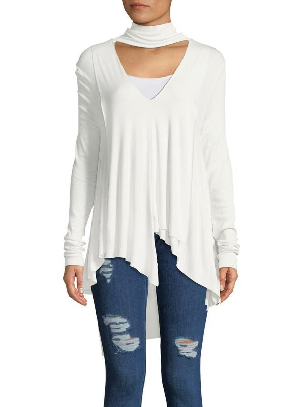 Lyst - Free People Uptown Turtleneck Top In White