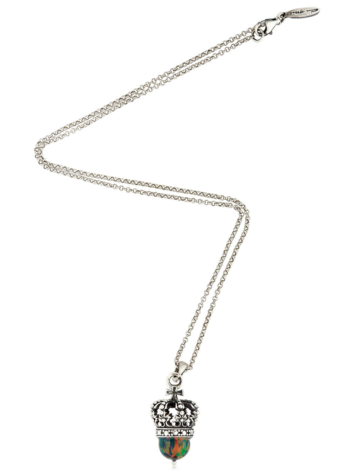 Cantini Mc Firenze Crown Pendant Necklace In Silver
