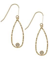 Macy's Cubic Zirconia Teardrop Earrings In 10k Gold in ...
