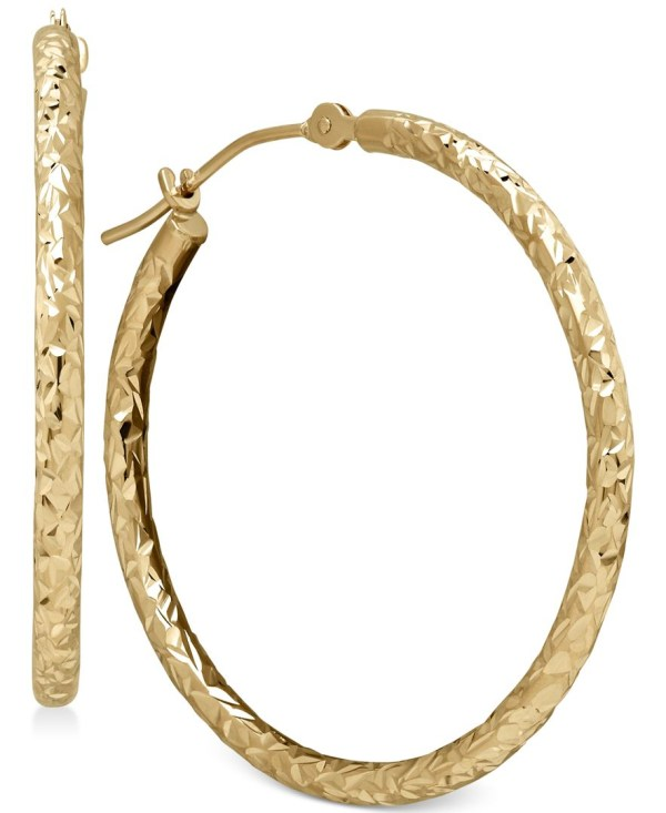 Macy' Tube Hoop Earrings In 10k Gold Multicolor Lyst