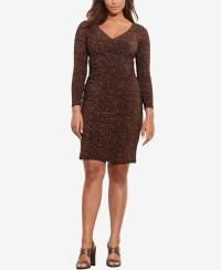 Lauren by ralph lauren Plus Size Printed Surplice Dress in ...