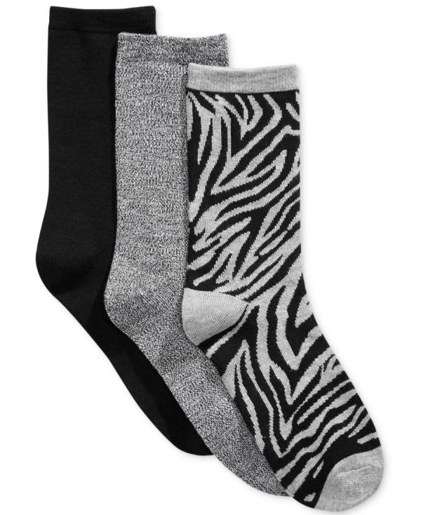 Lyst - Charter Club Women' 3-pk. Zebra Socks In Gray Men