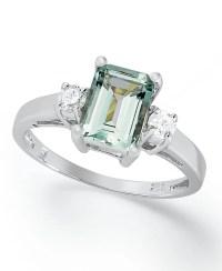 Macy's 14k White Gold Ring, Aquamarine (1-5/8 Ct. T.w ...