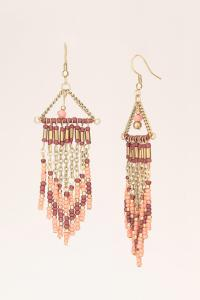 Lyst - Pieces Earrings in Pink