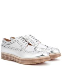 Lyst - Church' Opal Leather Platform Brogues In Metallic