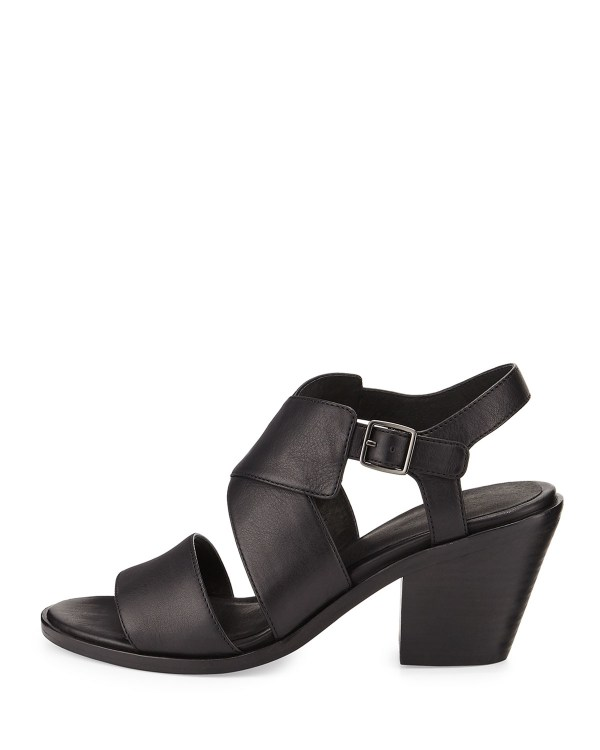 Eileen Fisher Cara Crisscross Leather Sandal In Black Lyst