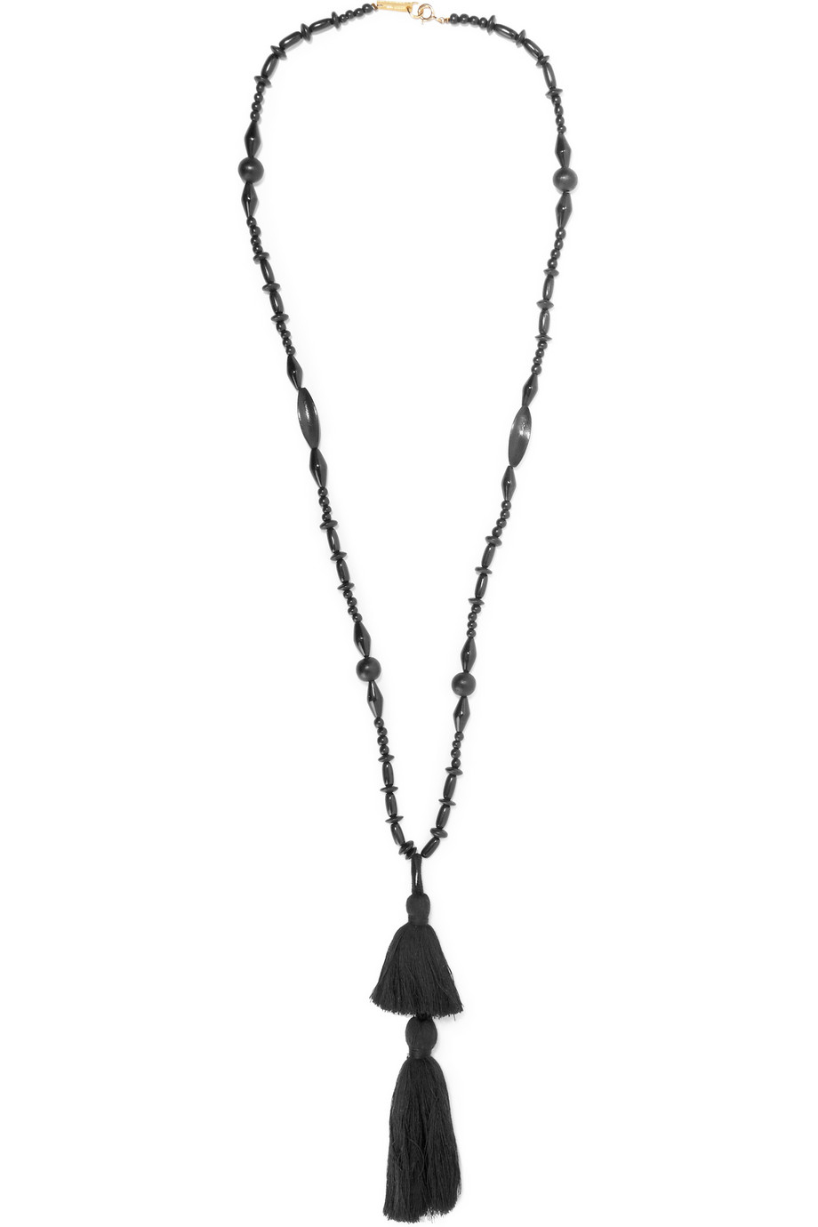 Isabel marant Berbere Tasseled Horn And Wood Necklace in