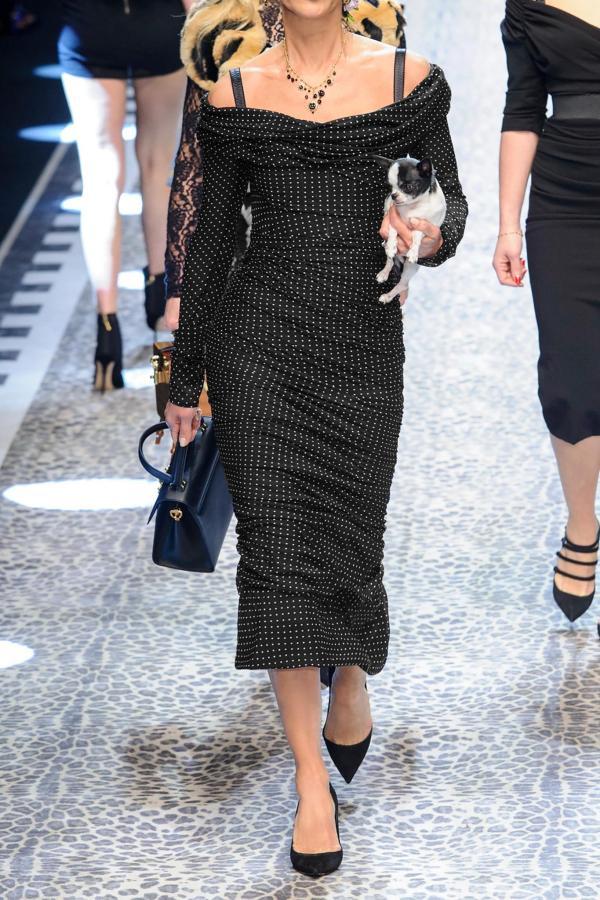 Dolce & Gabbana -shoulder Ruched Polka-dot Silk