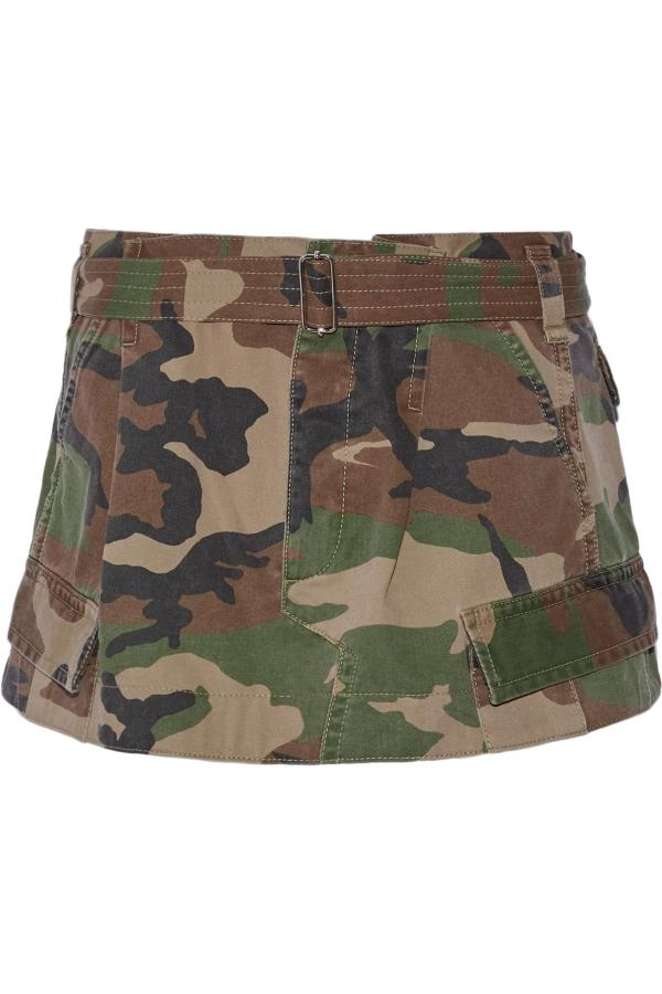 Marc Jacobs Camouflage-print Cotton-twill Mini Skirt In