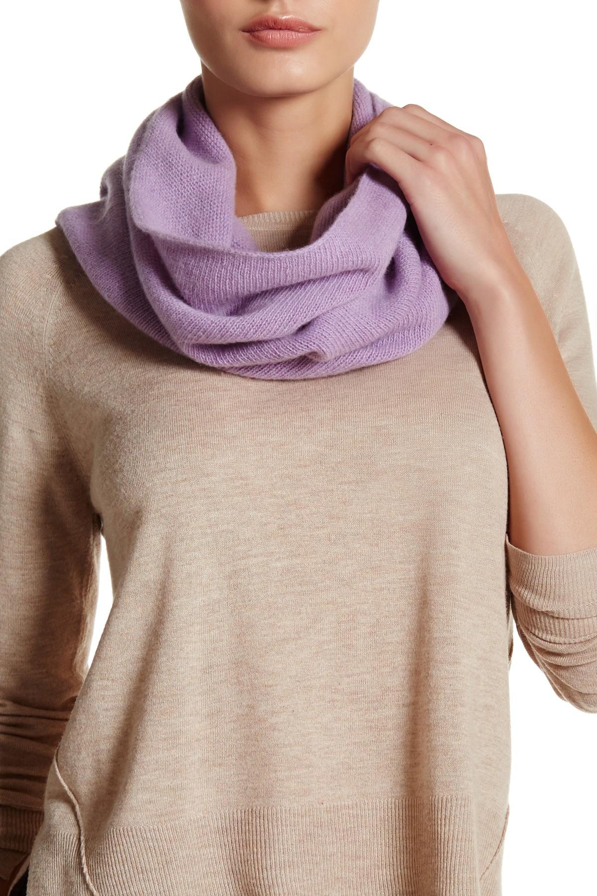 Portolano Lilac Cashmere Neck Warmer In Purple