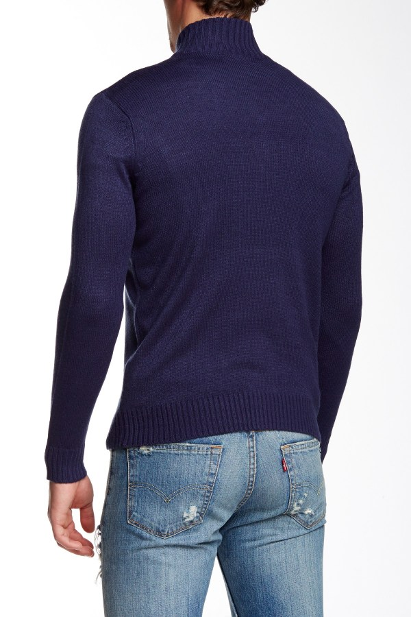 Jimmy Taverniti Zip Sweater In Blue Men Navy Lyst