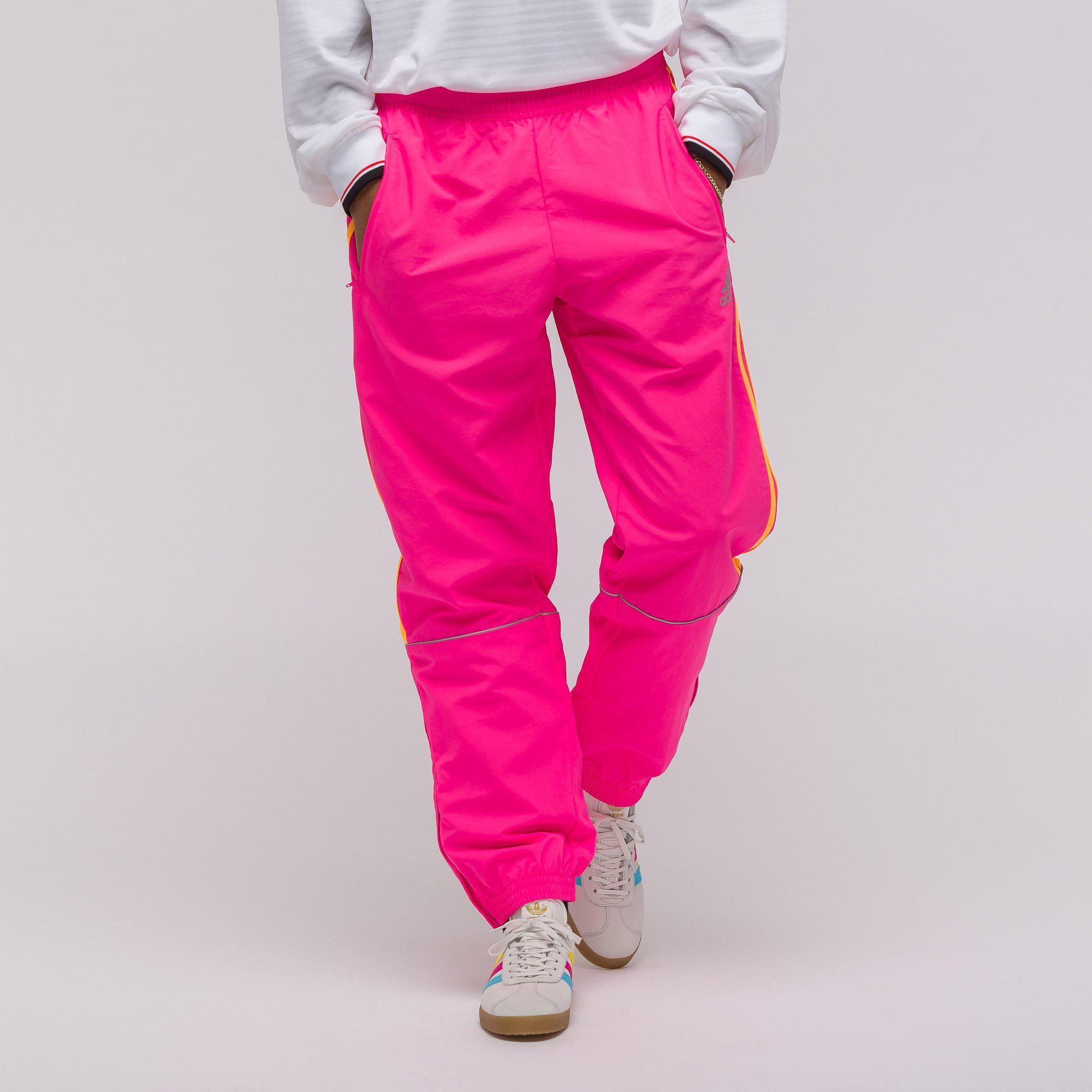 premium selection 81b01 8dd5d gosha rubchinskiy adidas pants lyst gosha rubchinskiy x adidas track in  pink in