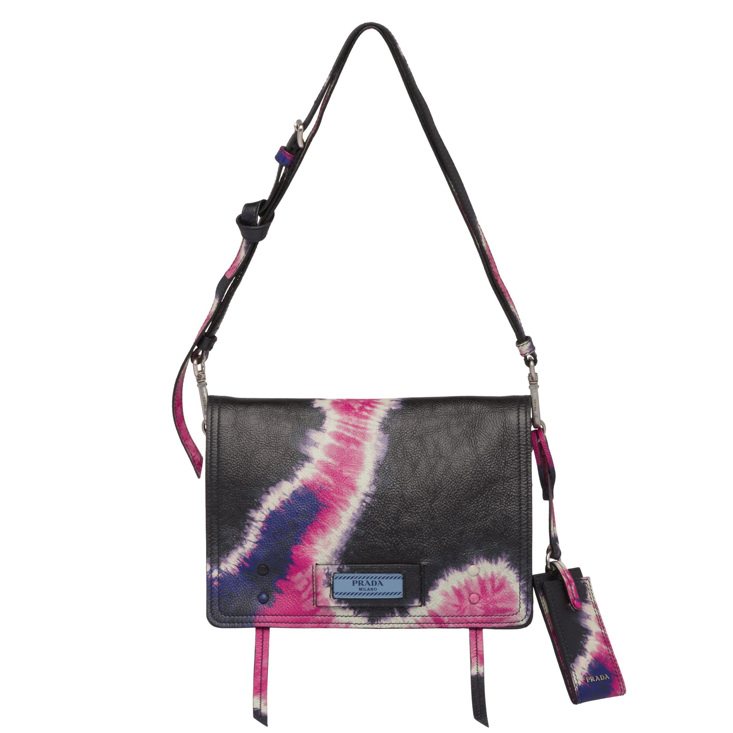 Lyst - Prada Etiquette Printed Leather Bag
