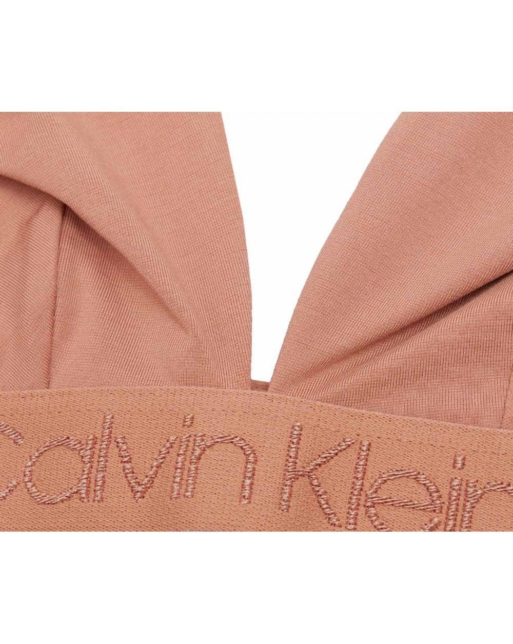 Calvin Klein Unlined Logo Triangle Bralette - Lyst