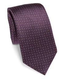 Saks fifth avenue Pin Dot Silk Tie in White for Men   Lyst