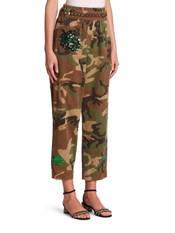 Lyst - Marc Jacobs Camouflage Belted Pants
