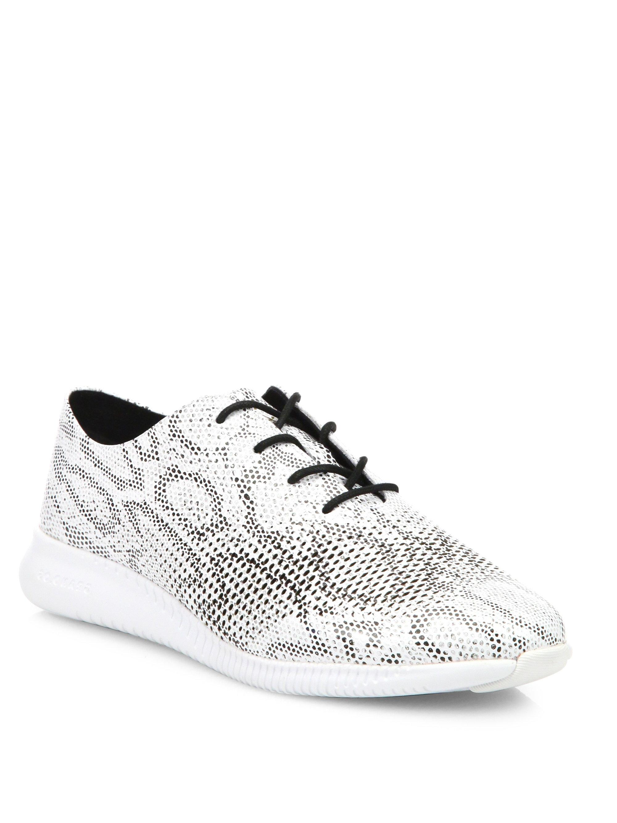 Cole haan Zer? Grand Snake-print Leather Oxford Sneakers