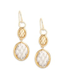 Jude frances 18k Yellow Gold & Sterling Silver Double Oval ...