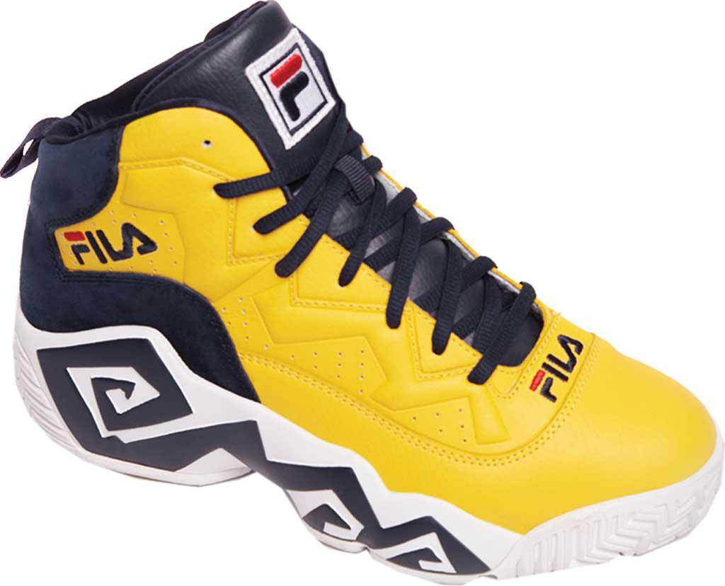 3b2f86edccd0 Lyst Fila Mb Basketball Shoe In Yellow For Men