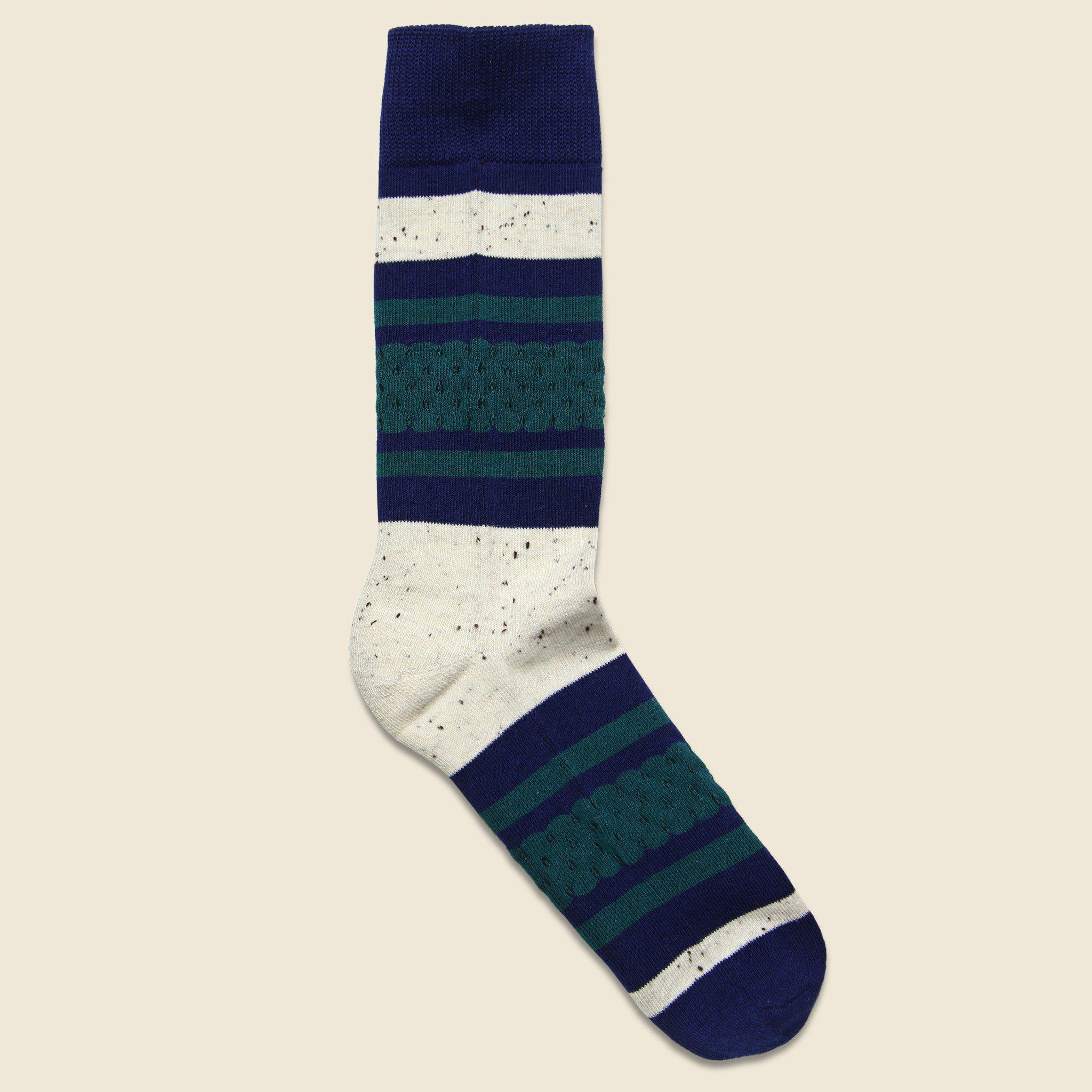 Lyst - Richer Poorer Provence Classic Lightweight Sock - Blue/cream in Blue for Men
