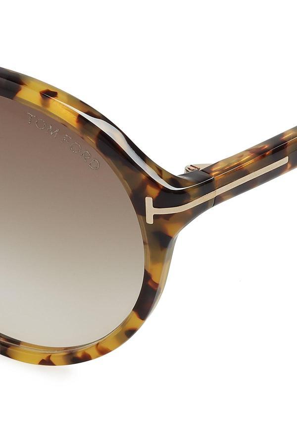 Lyst - Tom Ford Edison Oversized Sunglasses In Black
