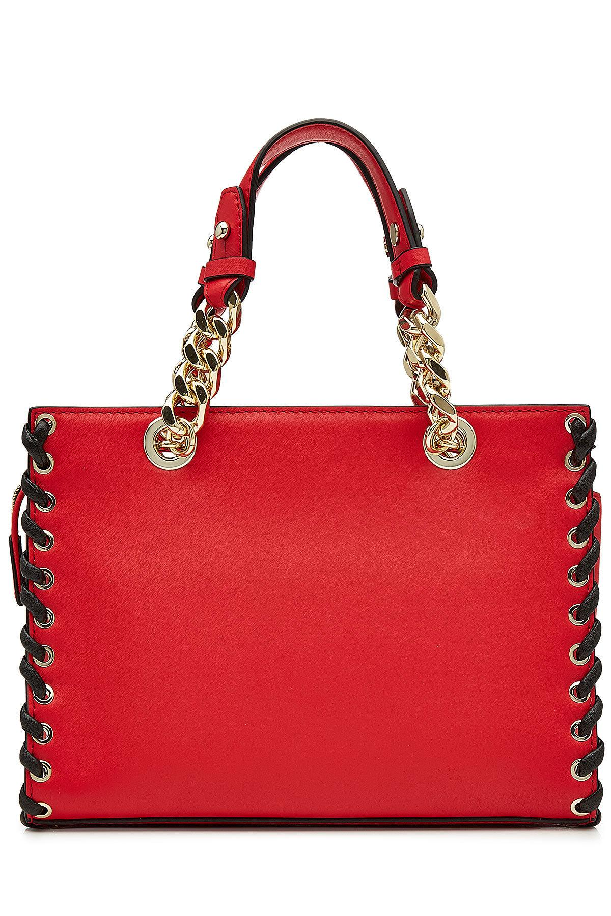 Lyst Karl Lagerfeld Leather Tote In Red