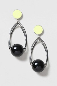 Topshop Caged Ball Drop Earrings in Green   Lyst