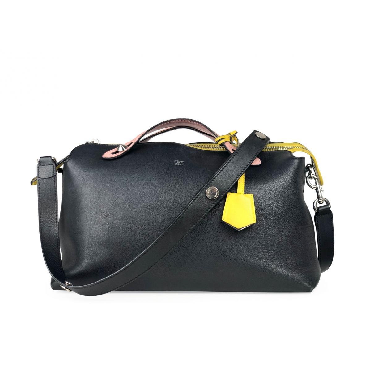 Lyst - Fendi By The Way Leather Handbag in Black