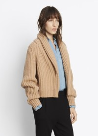 Lyst - Vince Shawl Collar Cardigan in Natural