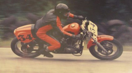 Steve and the XR1000 in action.
