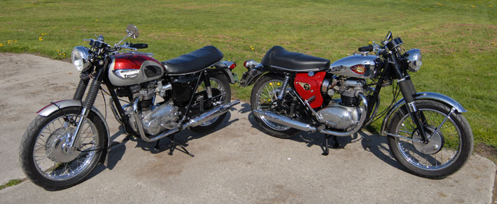 Vintage Hall: Bonnie vs BSA