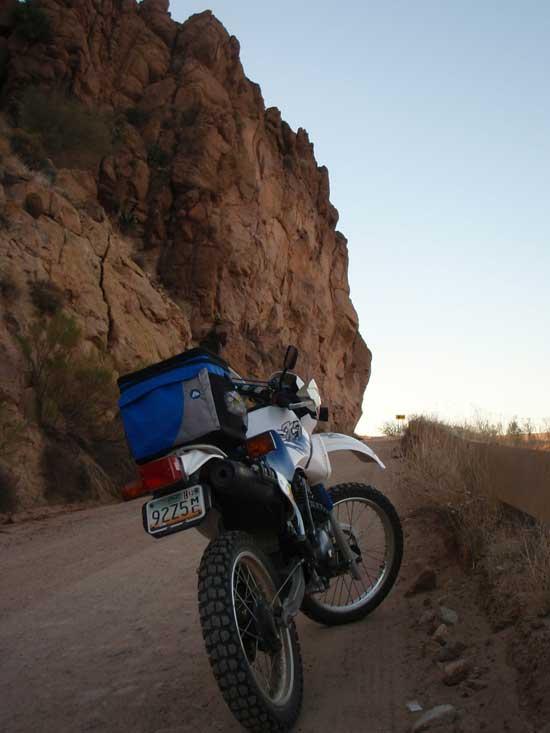 riding the dirt roads of Arizona