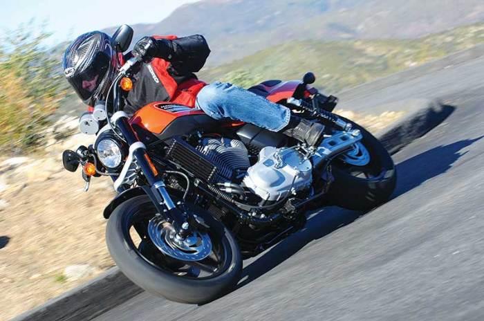 riding a Harley-Davidson XR1200
