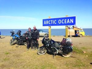 Arctic Ocean by motorcycle