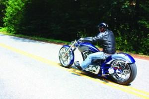 big dog motorcycles k-9 riding shot