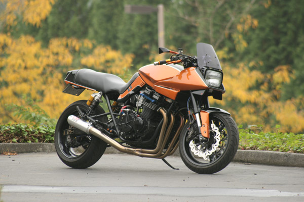 custom orange katana front
