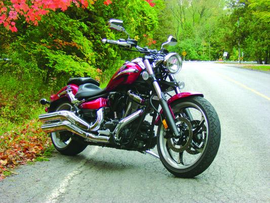 Yamaha Raider roadside shot