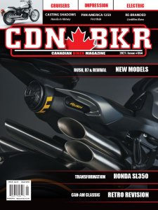 Canadian biker issue 354 cover with mv Augusta