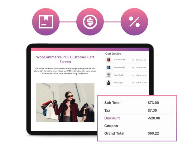 WooCommerce POS Customer Cart Screen - 6