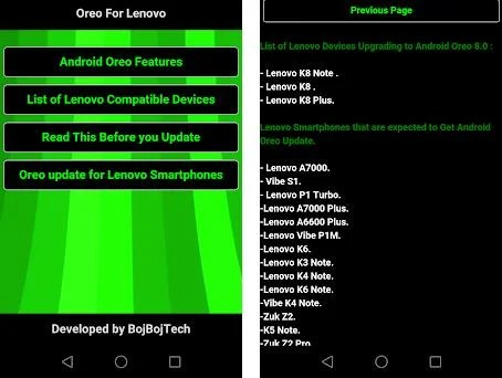 Oreo Lenovo Update Guide 0 0 1 apk download for Android