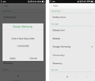 Zawgyi Font For Android