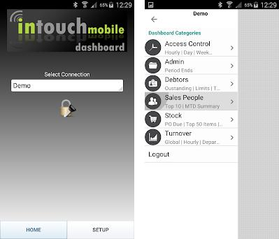 Intouch Dashboard preview screenshot